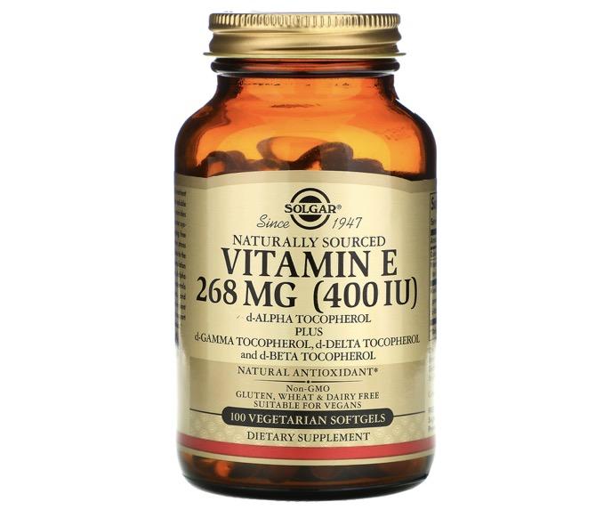 3. วิตามินอี ยี่ห้อ SOLGAR Naturally Sourced Vitamin E