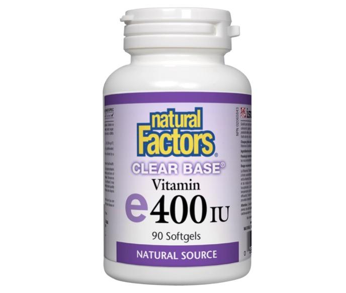 9. วิตามินอี ยี่ห้อ natural Factors Clear Base Vitamin E