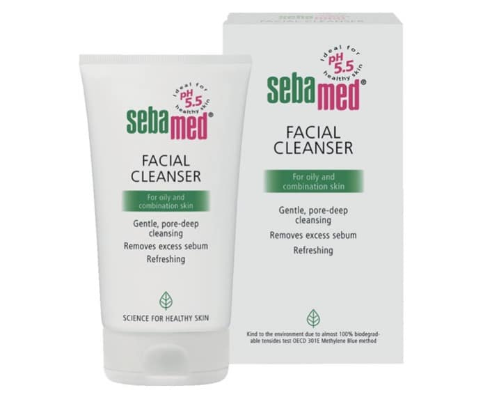 5. โฟมล้างหน้า ผิวผสม ยี่ห้อ Sebamed Facial Cleanser for Oily and Combination Skin