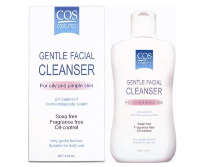 6. โฟมล้างหน้าสำหรับผิวผสม ยี่ห้อ COS Coseutics Gentle Facial Cleanser
