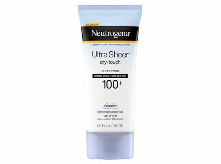 4. ยี่ห้อ Neutrogena Ultra Sheer Dry-Touch Sunscreen SPF 100+