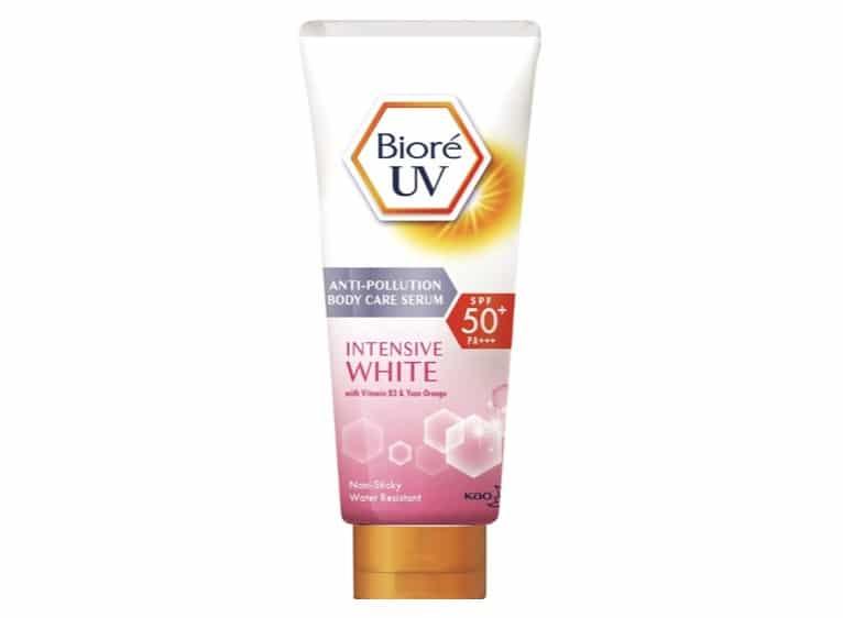 6. ยี่ห้อ Biore UV Anti-Pollution Body Care Serum Intensive White SPF50+/PA+++