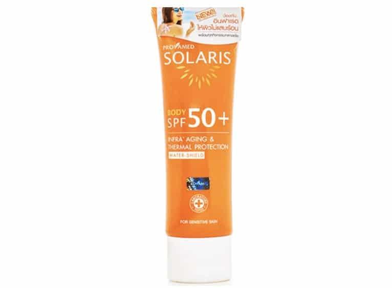 9. ครีมกันแดดทาตัว ยี่ห้อ Provamed Solaris Body SPF 50+