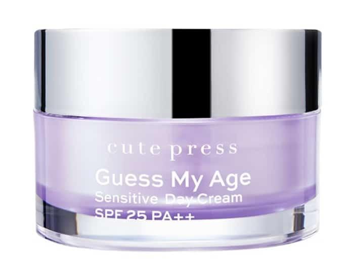 10. ครีมกลางวัน ยี่ห้อ Cute Press Guess My Age Sensitive Day Cream SPF 25 PA++