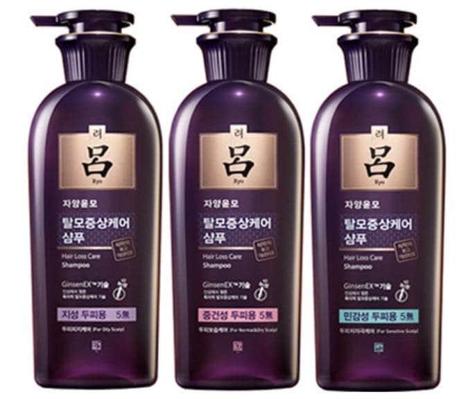 4. แชมพูแก้ผมร่วงเกาหลี ยี่ห้อ Ryo Jayangyunmo Hair Loss Care Shampoo