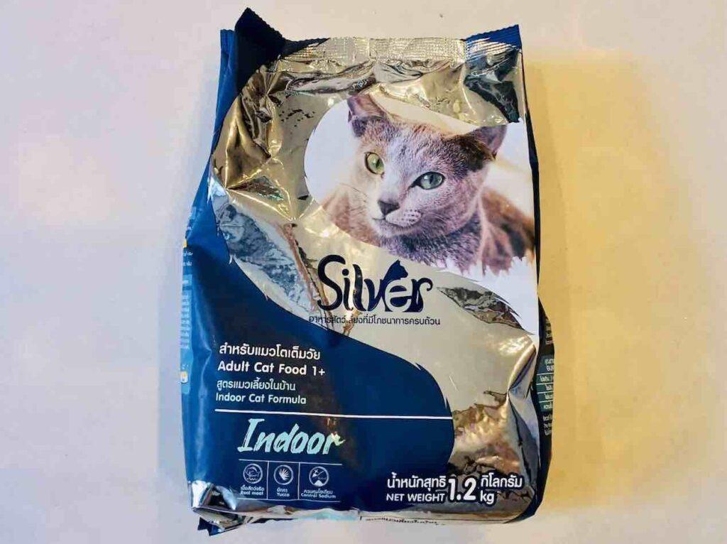 1. อาหารเม็ดแมว ยี่ห้อ Silver สูตร Indoor