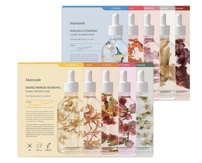 10. มาร์คหน้าเกาหลี ยี่ห้อ Mamonde Moisturizing Flower Lab Essence Mask sheet