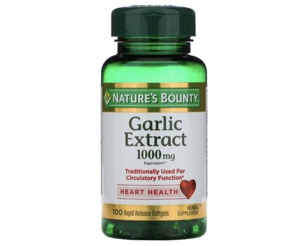 9. กระเทียมสกัด ยี่ห้อ Nature's Bounty Garlic Extract