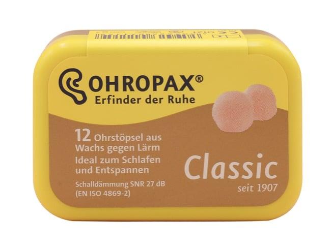 9. ที่อุดหู ยี่ห้อ Ohropax Classic ear plug