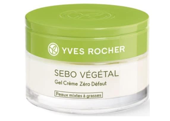 2. มอยเจอร์ไรเซอร์สิว ยี่ห้อ Yves Rocher Sebo Vegetal Zero Defaut Mattifying Gel Cream