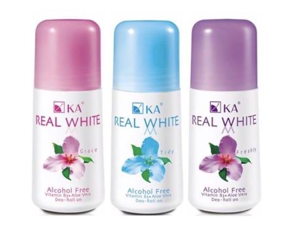 10. โรลออน รักแร้ขาว ระงับกลิ่น ยี่ห้อ KA Real White Deo Roll On