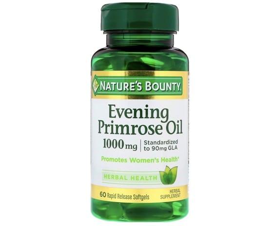 8. อีฟนิ่งพริมโรส ยี่ห้อ Nature's Bounty Evening Primrose Oil