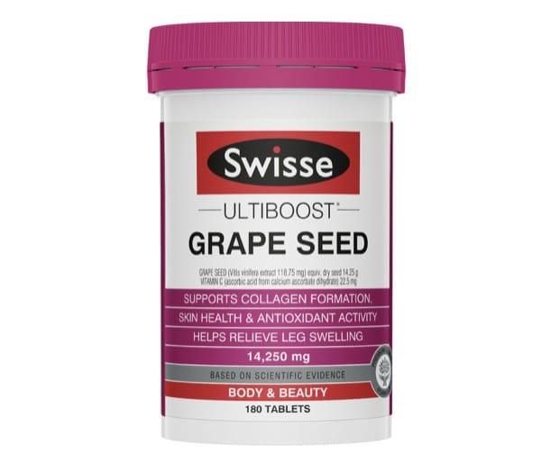 6. เกรปซีด ยี่ห้อ Swisse Ultiboost Grape Seed