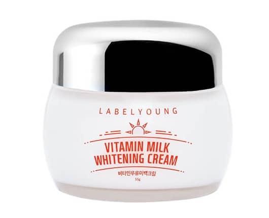 8. ครีมทาหน้าขาวเกาหลี ยี่ห้อ LabelYoung Vitamin Milk Whitening Cream