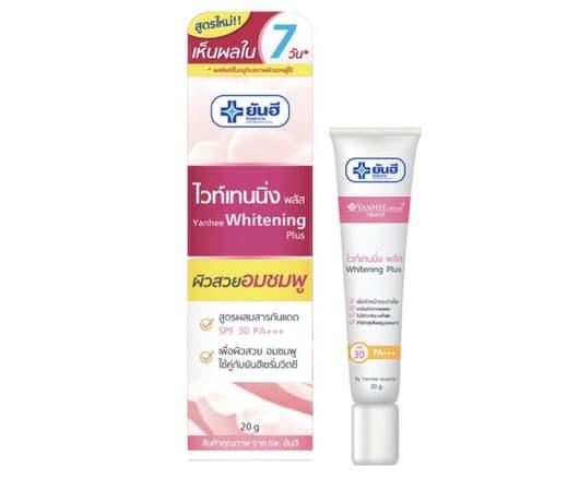 10. ครีมทาหน้าขาว ยี่ห้อ Yanhee Whitening Plus Cream