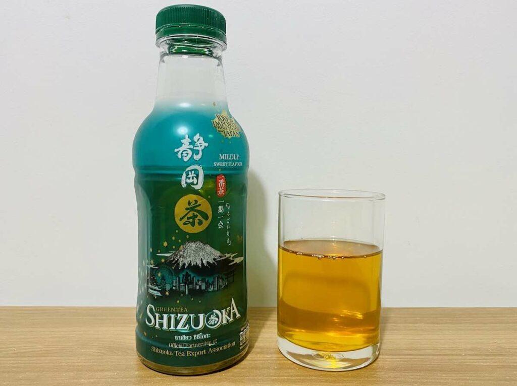 1. ชาเขียว ขวด ยี่ห้อ SHIZUOKA รสธรรมชาติผสมผงมัทฉะ