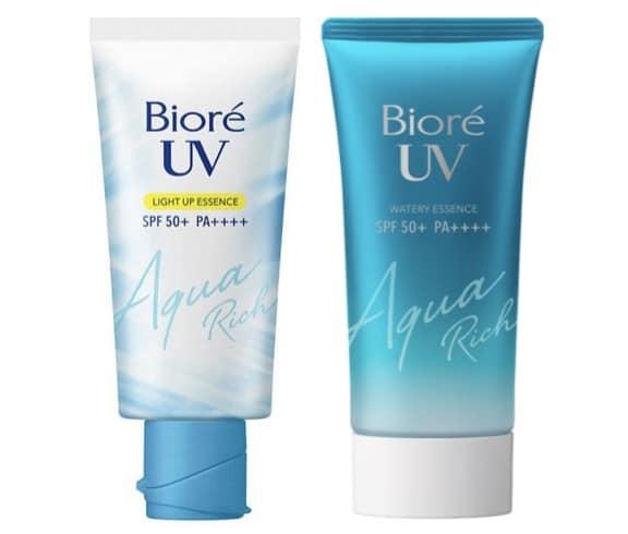 2. ครีมกันแดดทาหน้า ยี่ห้อ Biore UV Aqua Rich Watery