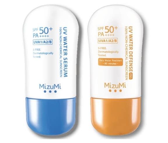 4. ครีมกันแดดทาหน้า ยี่ห้อ MizuMi UV Water Serum & UV Water Defense
