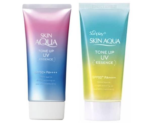 5. ครีมกันแดดหน้า ยี่ห้อ Rohto Skin Aqua Tone Up UV Essence SPF 50+ PA++++