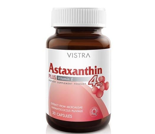 4. อาหารเสริมสาหร่ายแดง ยี่ห้อ Vistra Astaxanthin