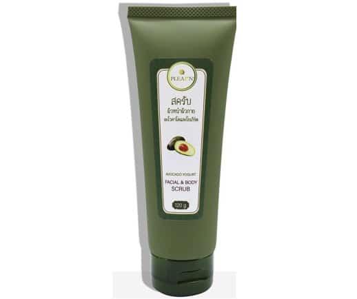 10. สครับผิวหน้า ยี่ห้อ PLEARN Avocado Yogurt Facial & Body Scrub