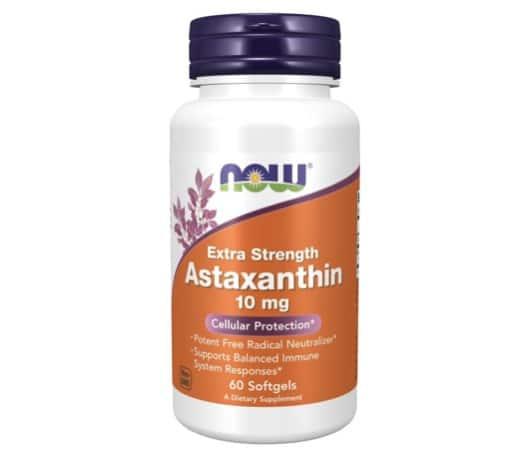 10. อาหารเสริมสาหร่ายแดง ยี่ห้อ Now Foods Astaxanthin