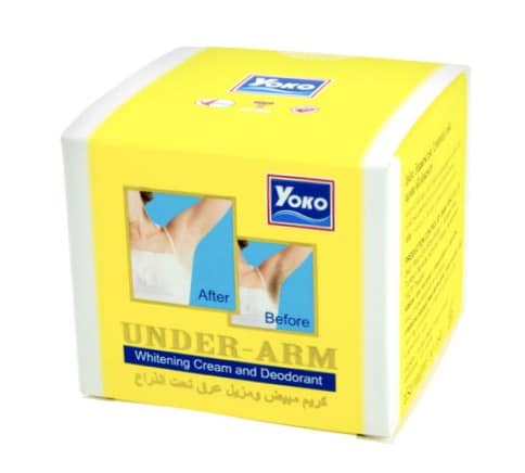 8. ครีมทารักแร้ขาว ยี่ห้อ Yoko Under Arm Whitening Cream and Deodorant