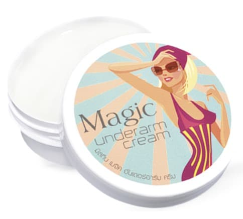 10. ครีมทารักแร้ขาว ยี่ห้อ MISTINE Magic Underarm Cream