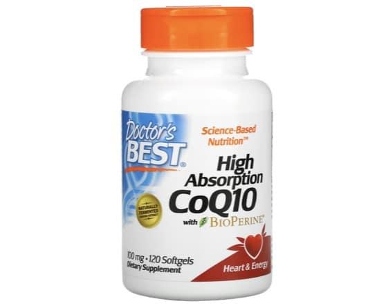 5. โคเอ็นไซม์ คิวเท็น ยี่ห้อ Doctor's Best Co Q10 With Bioperine