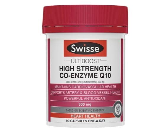7. โคเอ็นไซม์ คิวเท็น ยี่ห้อ Swisse Ultiboost High Strength Co-enzyme Q10