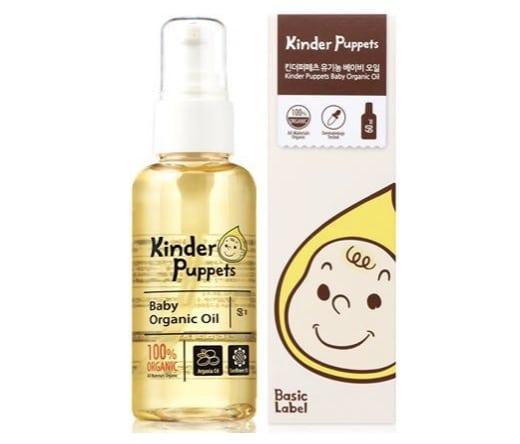 1. เบบี้ออยล์ ยี่ห้อ Kinder Puppets Baby Organic Oil