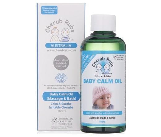 4. ยี่ห้อ Cherub Rubs Organic Baby Calm Oil