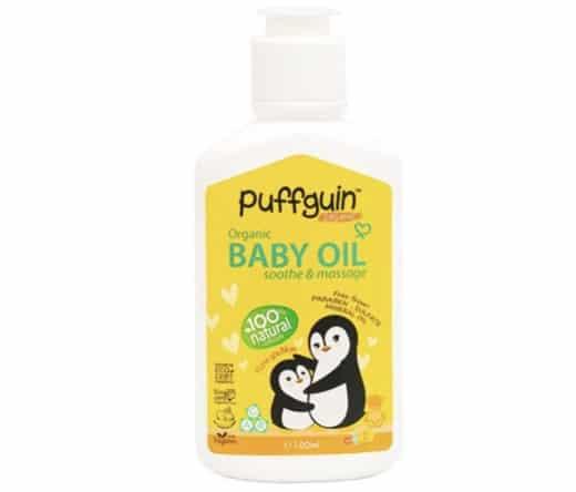 8. ยี่ห้อ Puffguin Organic Baby Oil