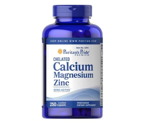3. ยี่ห้อ Puritan's Pride Chelated Calcium Magnesium Zinc