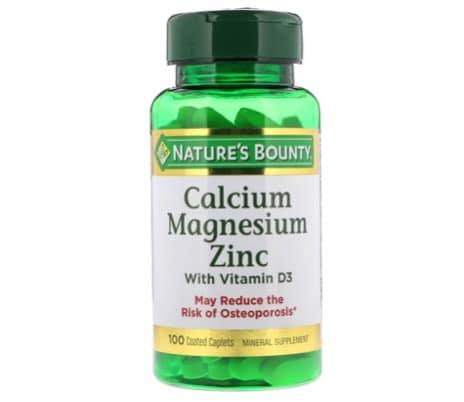 10. ยี่ห้อ Nature's Bounty Calcium Magnesium Zinc with Vitamin D3