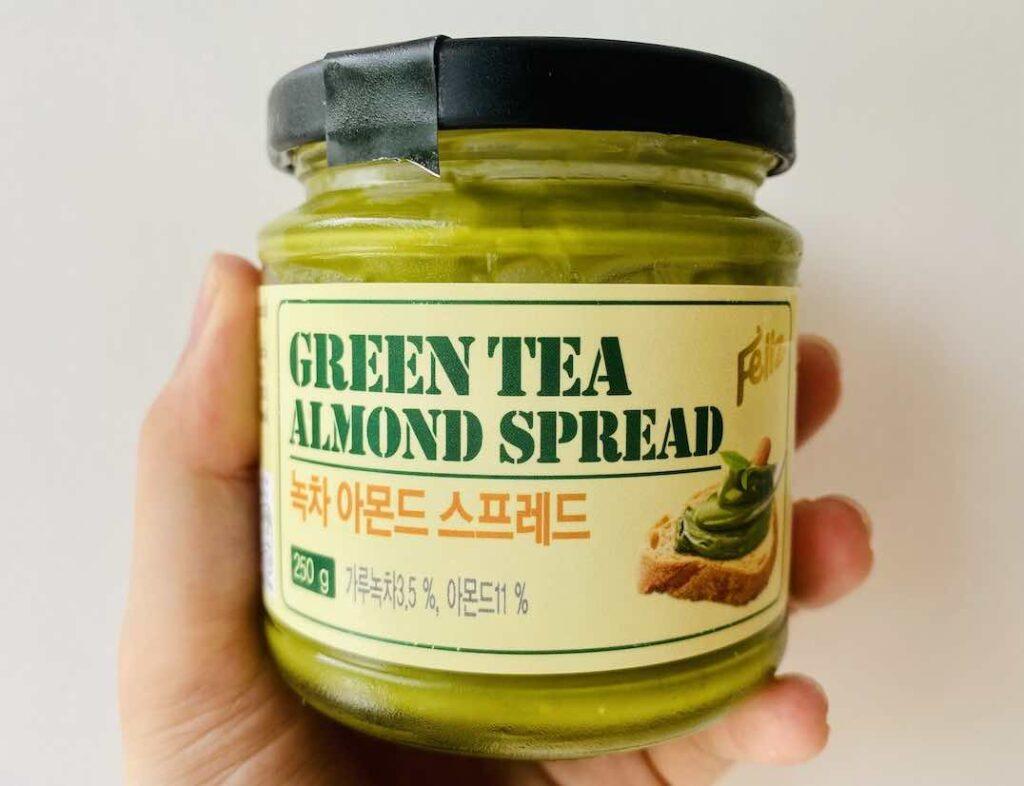 1. รีวิว เนยถั่ว ยี่ห้อ Green Tea Almond Spread