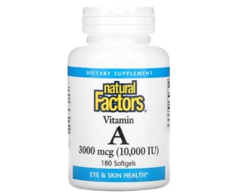 7. อาหารเสริม วิตามิน เอ ยี่ห้อ Nature Factors