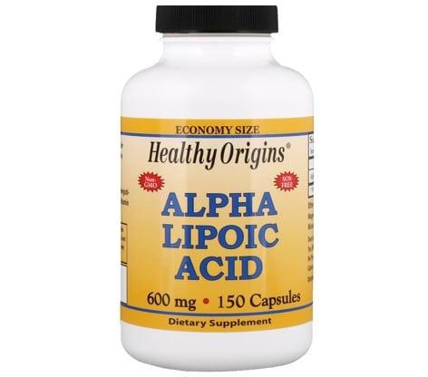 3. อาหารเสริม Alpha Lipoic Acid ยี่ห้อ Healthy Origins