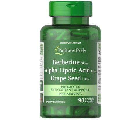 4. กรดอัลฟาไลโปอิก ยี่ห้อ Puritan's Pride Berberine, ALA, Grape Seed