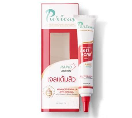 5. ยี่ห้อ Puricas Advanced Formula Anti-Acne Gel