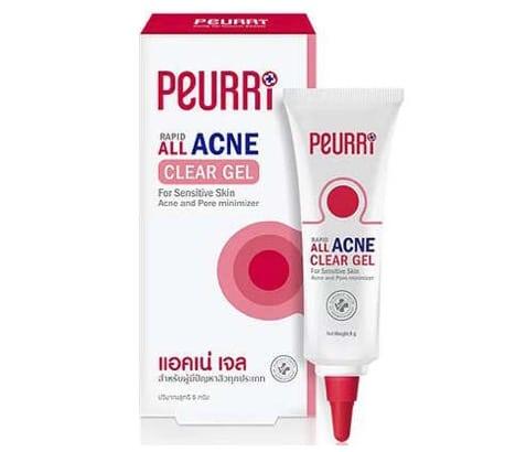 9. ยี่ห้อ Peurri Rapid All Acne Clear Gel