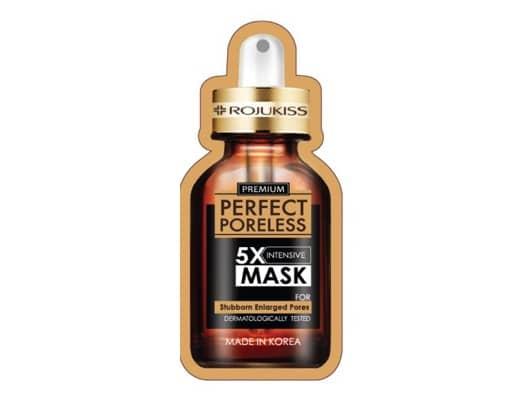 7. แผ่น มาร์คหน้า ยี่ห้อ Rojukiss Perfect Poreless 5X Intensive Mask
