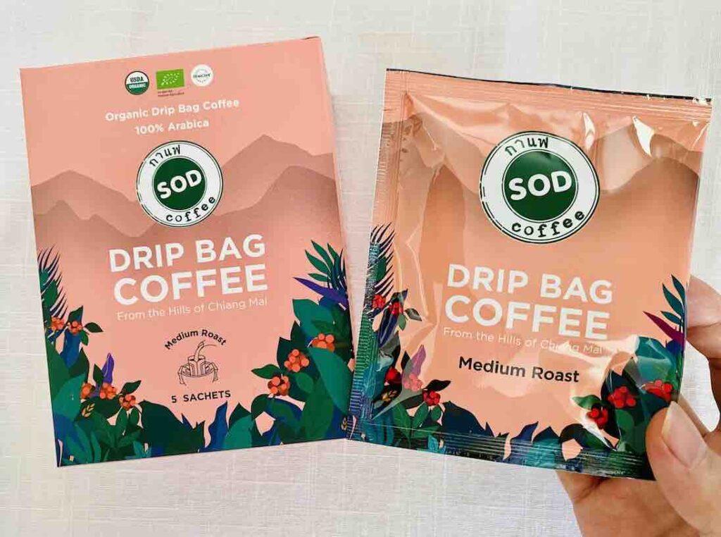 2. รีวิว ดริปกาแฟ ยี่ห้อ SOD Drip Bag Coffee