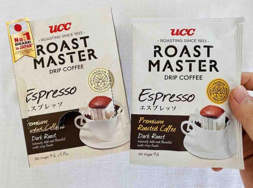 1. รีวิว กาแฟดริปแบบซอง ยี่ห้อ UCC Drip Coffee Espresso