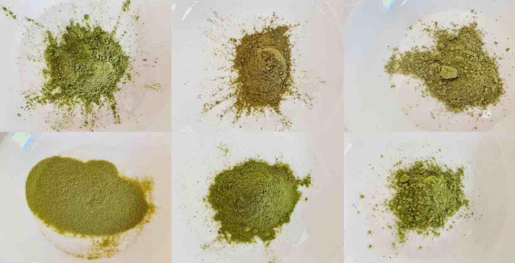 ลักษณะและสีสันของผงชาเขียวที่แตกต่างกัน ก็บ่งบอกถึงคุณภาพ และรสชาติได้เหมือนกัน