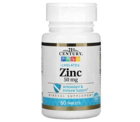2. อาหารเสริม Zinc ยี่ห้อ 21st Century