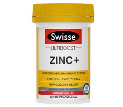 3. อาหารเสริม สังกะสี ยี่ห้อ Swisse Chelate Zinc+