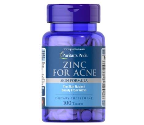 5. อาหารเสริม Zinc ยี่ห้อ Puritan's Pride Zinc for Acne