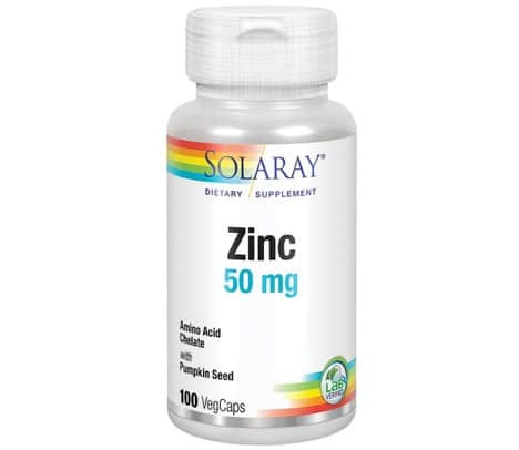 6. อาหารเสริม สังกะสี ยี่ห้อ Solaray Zinc