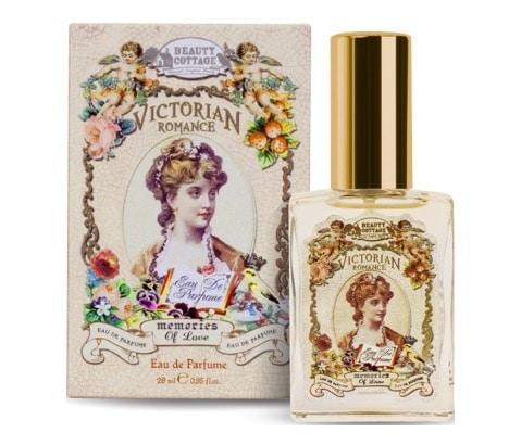 6. น้ำหอมผู้หญิง ราคาถูก ยี่ห้อ BEAUTY COTTAGE VICTORIAN ROMANCE MEMORIES OF LOVE EAU DE PARFUME